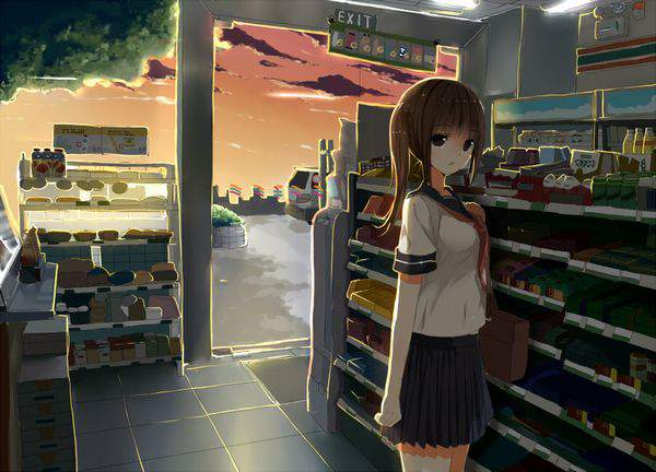 【日常生活】コンビニで買い物する女の子達の二次画像【12】
