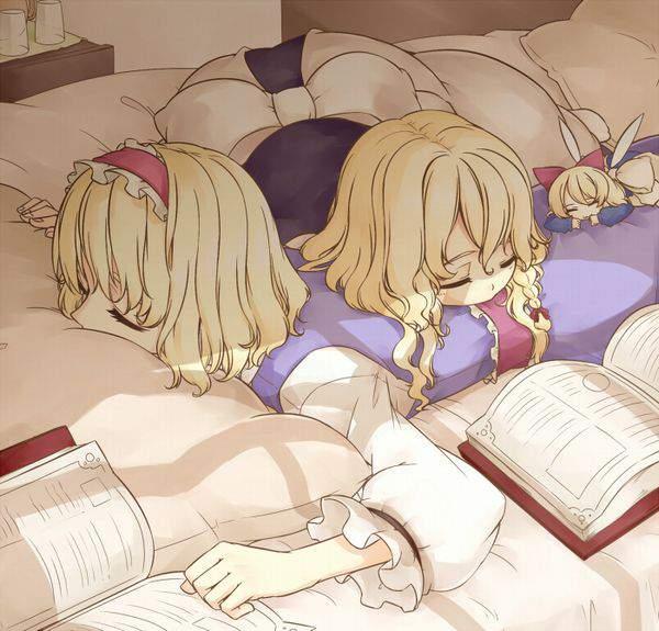 【オナラに注意】女の子のお尻を枕にしてる二次エロ画像【22】