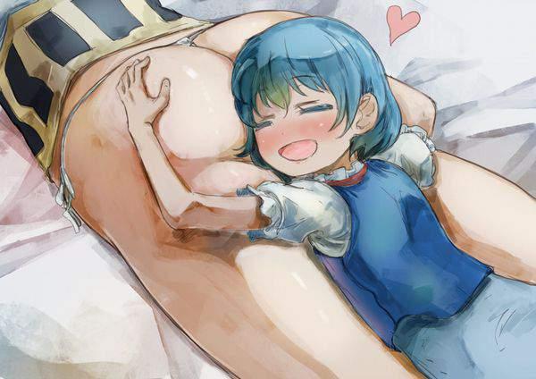 【オナラに注意】女の子のお尻を枕にしてる二次エロ画像【29】