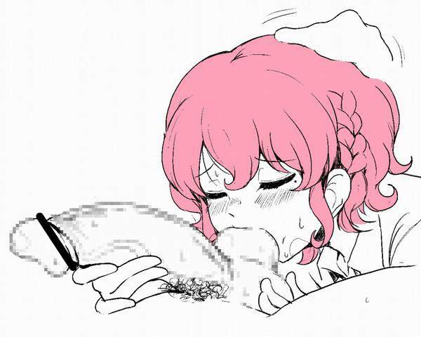 【やっぱ好きなんすね~】女の子が金玉舐めてる二次エロ画像【2】