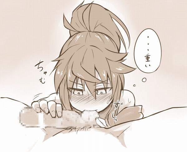 【やっぱ好きなんすね~】女の子が金玉舐めてる二次エロ画像【15】