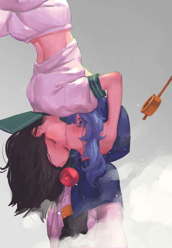 【スパイダーマンの名シーン】逆さキスしてる2人の二次画像【8】