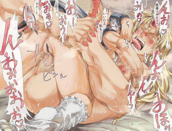 【SMぽいの好き】腋毛生やした女の子達がセックスしてる二次エロ画像【24】