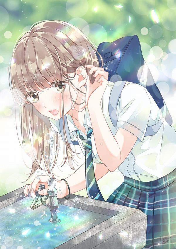 【小学生のドリンクバー】公園等の水飲み場と女子の二次エロ画像【30】