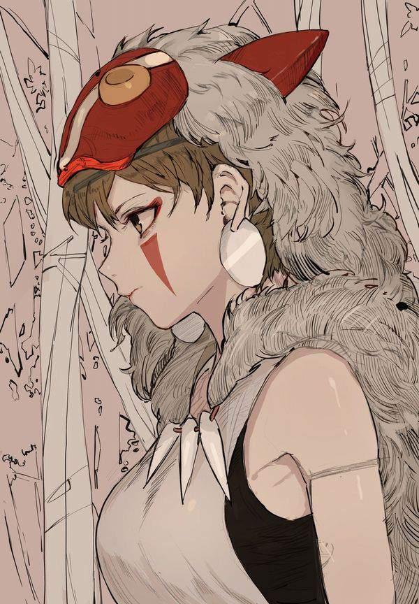 【ジブリ】もののけ姫のエロ画像【25】