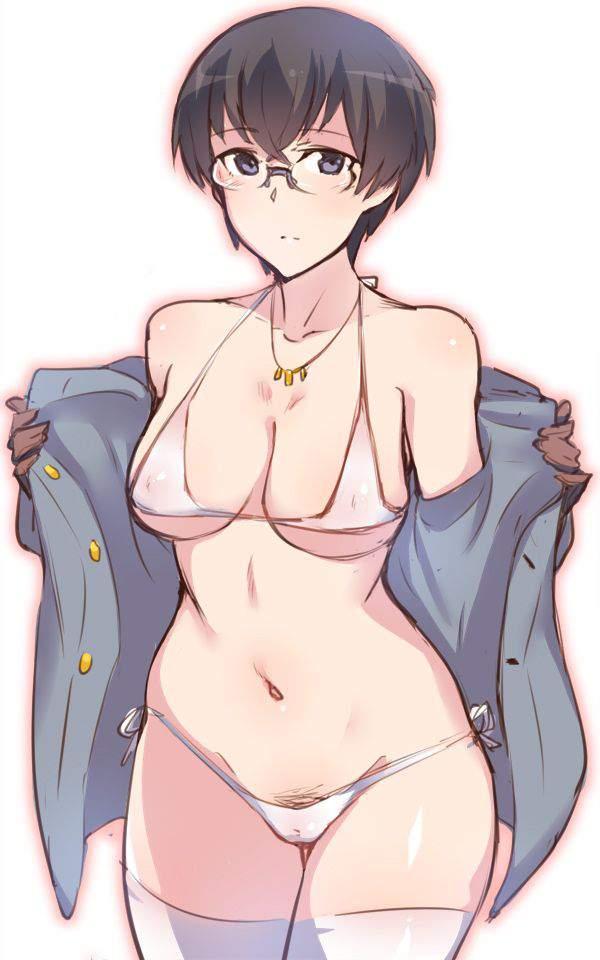 【見せてるの?】パンツの上からハミ毛してる二次エロ画像【34】