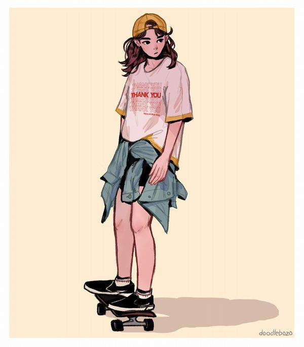 【多分彼氏の影響】スケーターガールの二次画像【24】