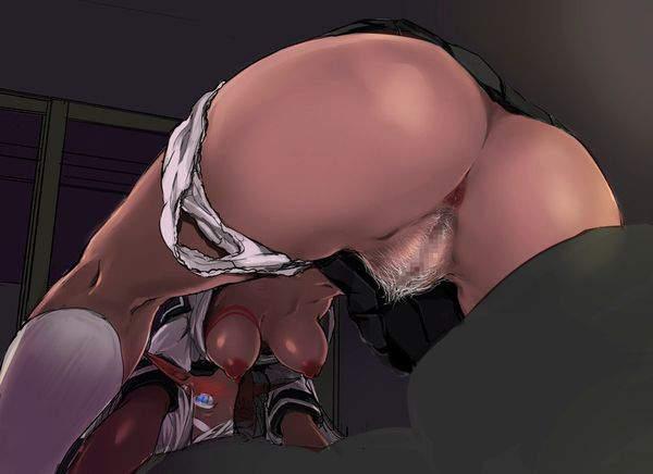 【きっとカカオのような味】褐色娘の肛門を愛でる二次エロ画像【1】