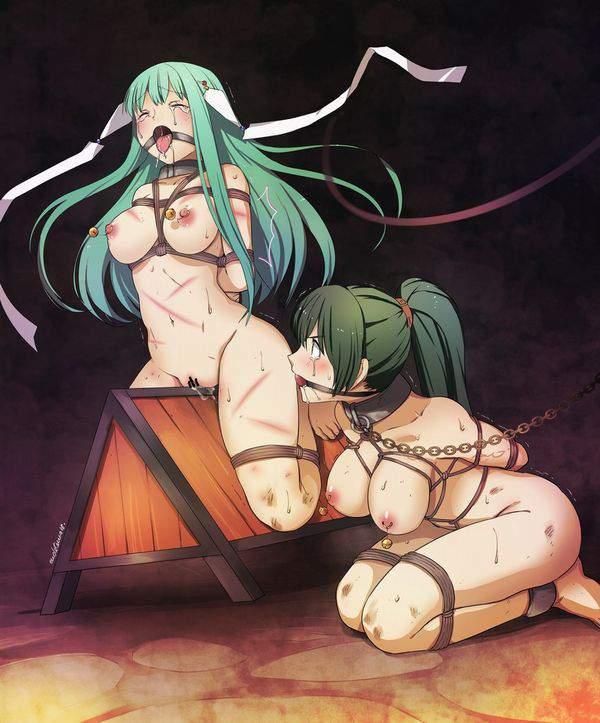 【遊びじゃないんだよ!】拷問で三角木馬に乗せられてる女子達の二次エロ画像【1】
