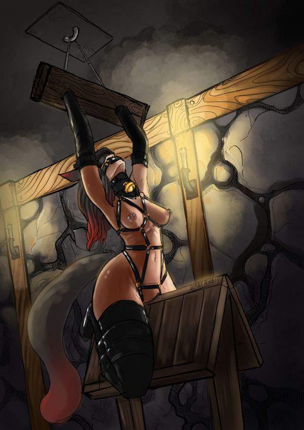 【遊びじゃないんだよ!】拷問で三角木馬に乗せられてる女子達の二次エロ画像【34】