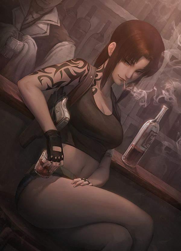 【ブラックラグーン】レヴィ(レベッカ・リー)のエロ画像【BLACKLAGOON】【49】