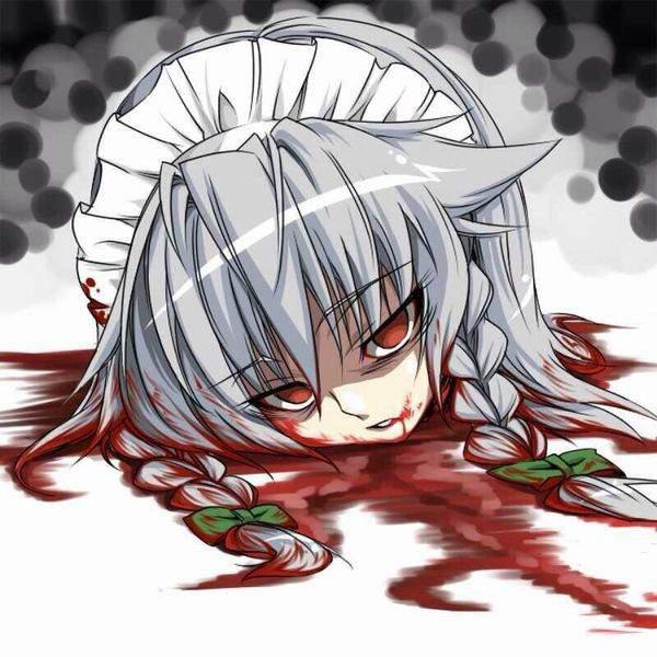 【クビだクビだクビだ!】首斬られちゃった系女子達の頭部転がる二次グロ画像【17】