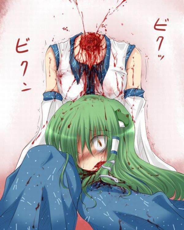 【クビだクビだクビだ!】首斬られちゃった系女子達の頭部転がる二次グロ画像【19】