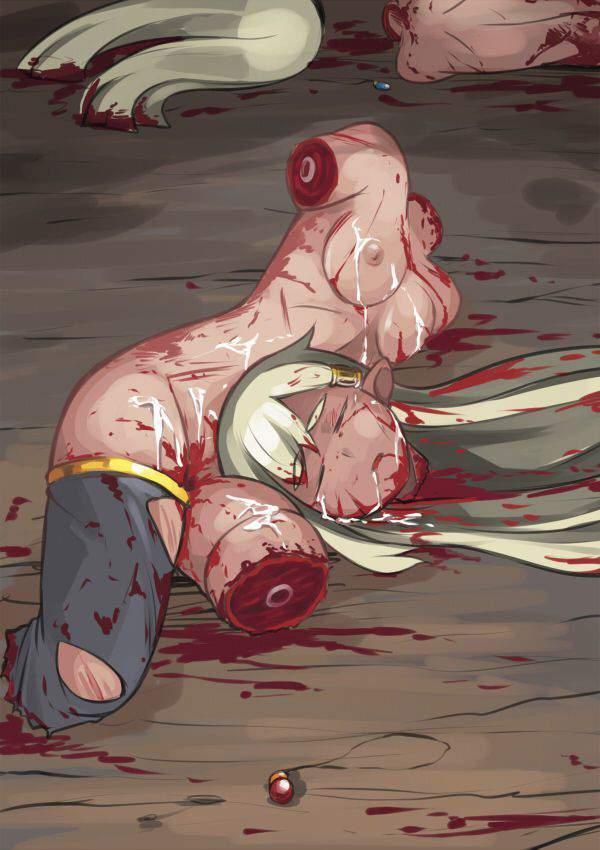 【クビだクビだクビだ!】首斬られちゃった系女子達の頭部転がる二次グロ画像【22】