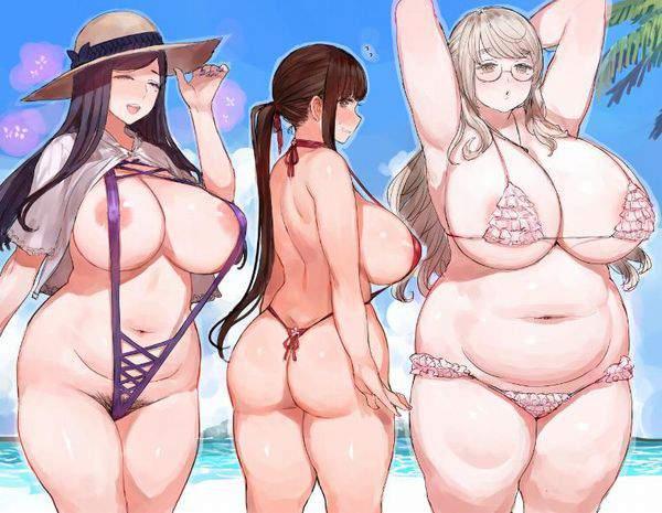 【ベテラン風俗嬢体型】垂れ巨乳ぽっちゃり女子の二次エロ画像【8】