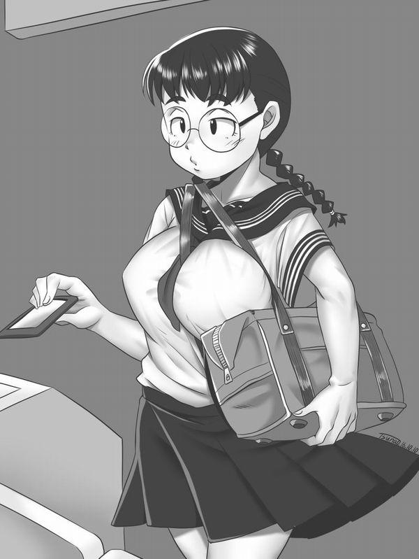 【地味子】黒髪三つ編みメガネな昭和の香り漂う女子の二次エロ画像【21】