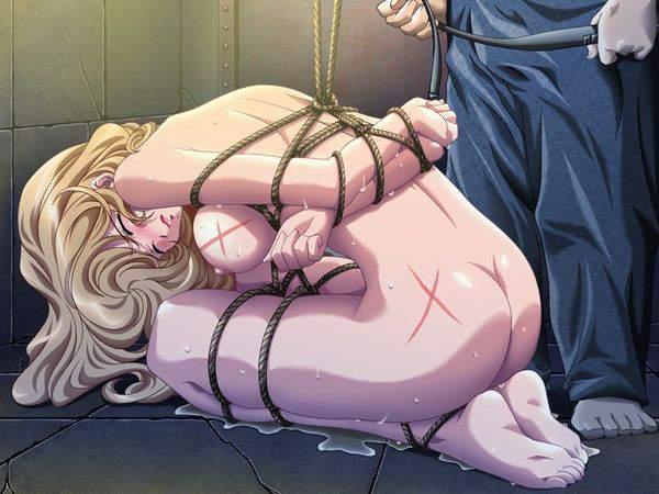 【セルシオくらい痛そう】縛られて鞭で打たれてる二次エロ画像【39】