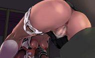 【きっとカカオのような味】褐色娘の肛門を愛でる二次エロ画像
