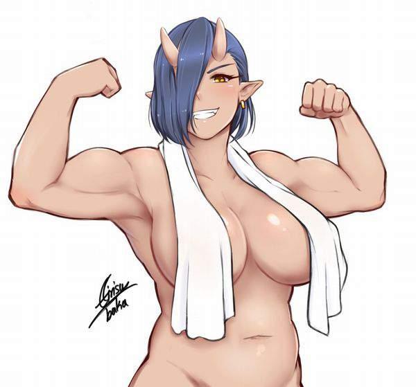 【中身はおっさん】タオルを首にかけた全裸女子の二次エロ画像【22】