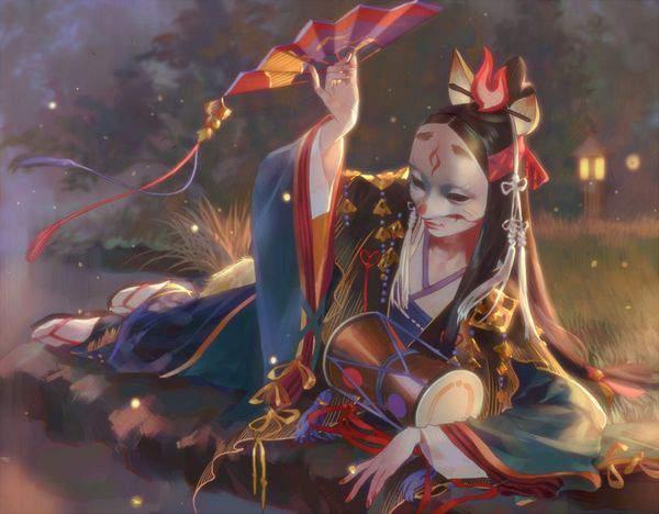 【平野ノラ!?】広げた扇子を手にポーズを取る女子達の二次エロ画像【25】