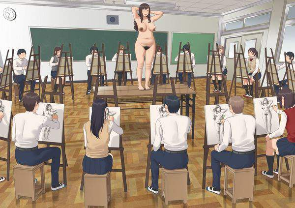 【芸術の秋】ヌードデッサンのモデルをしている女子達の二次エロ画像【時給3000円位】【3】