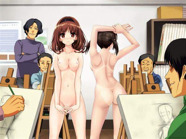 【芸術の秋】ヌードデッサンのモデルをしている女子達の二次エロ画像【時給3000円位】【14】