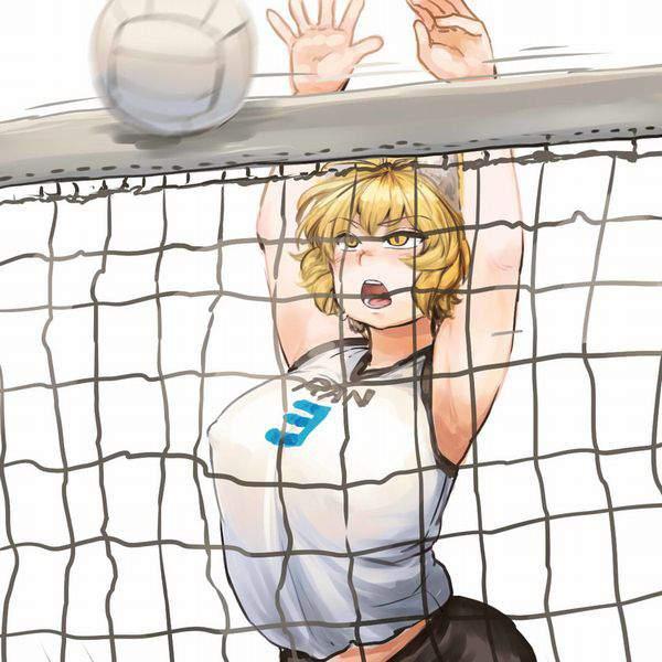 【飛び散る汗やら何やら】バレーボールの試合真っ最中な女子達の二次エロ画像【27】