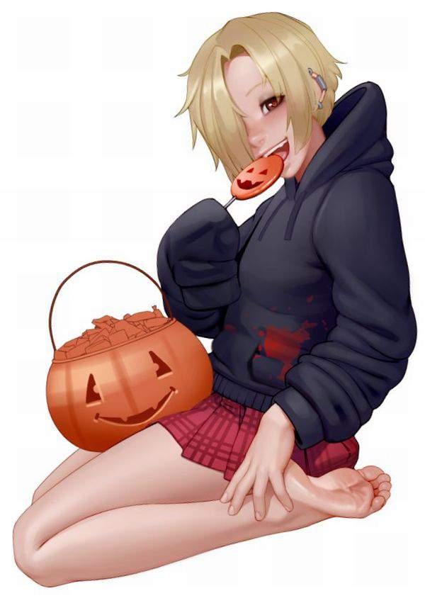 【ハロウィンだから】ジャック・オー・ランタンと美少女の二次エロ画像【蘭たんじゃないよ】【36】