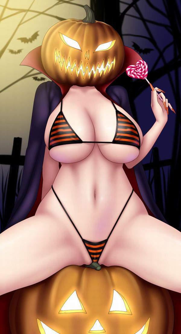 【ハロウィンだから】ジャック・オー・ランタンと美少女の二次エロ画像【蘭たんじゃないよ】【38】