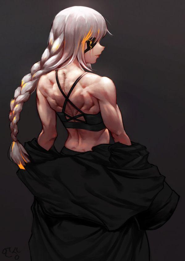 【背中に鬼神が宿ってる】マッスル女子の背筋を愛でる二次エロ画像【11】