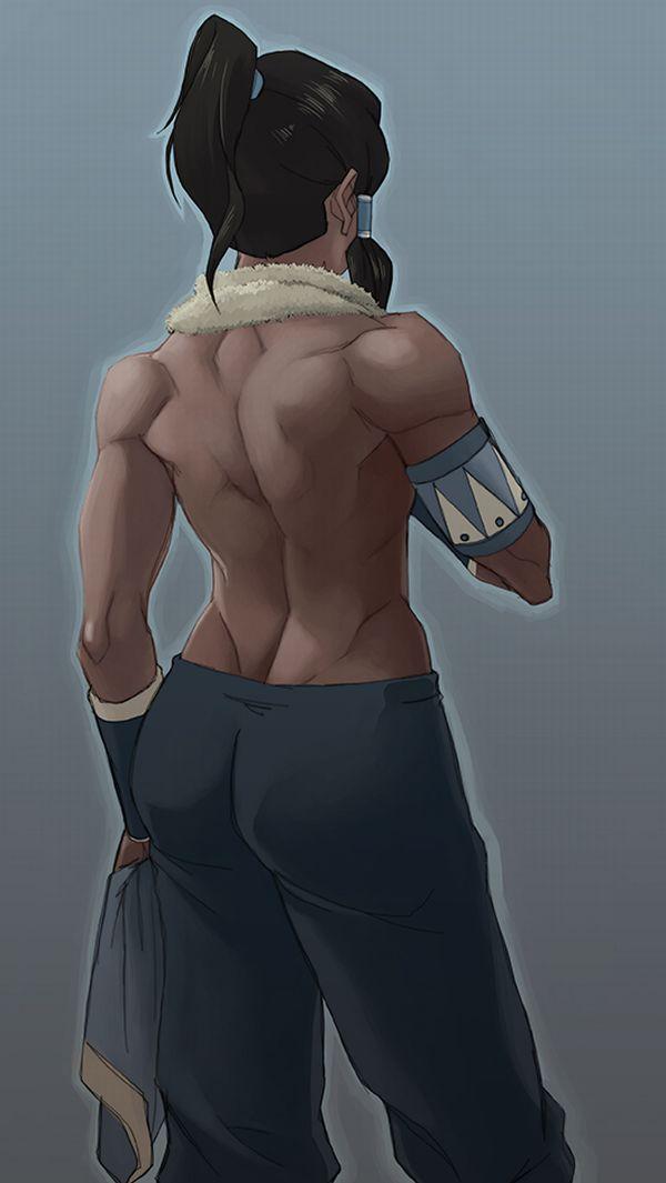 【背中に鬼神が宿ってる】マッスル女子の背筋を愛でる二次エロ画像【25】