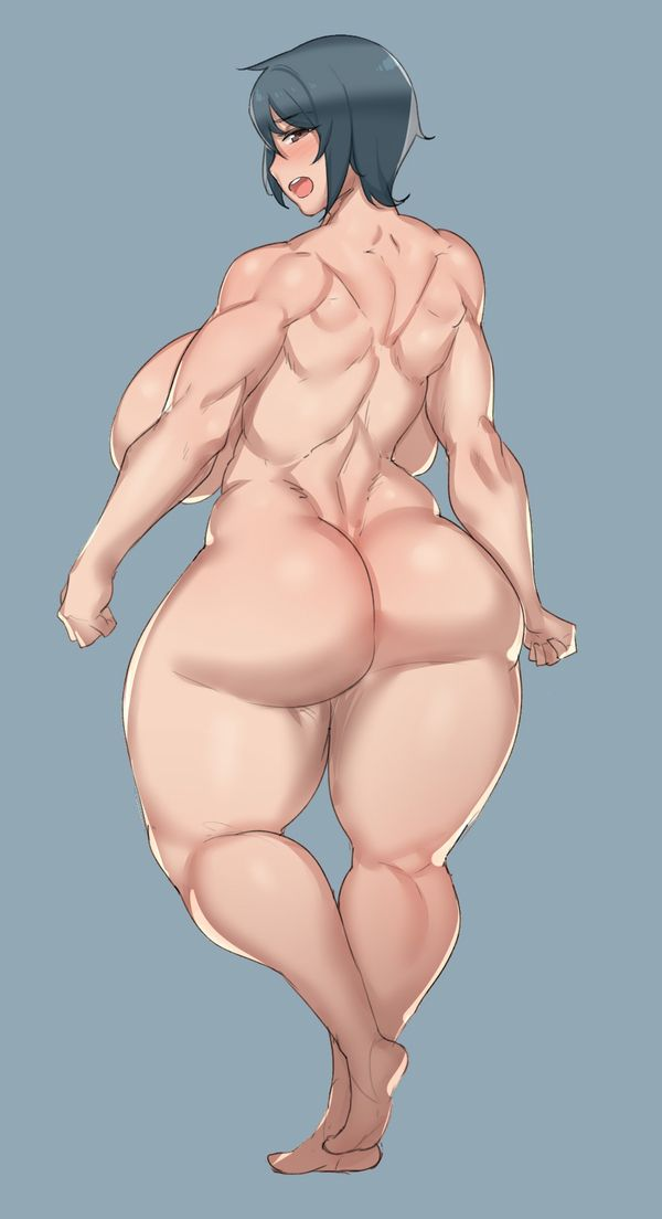 【背中に鬼神が宿ってる】マッスル女子の背筋を愛でる二次エロ画像【34】
