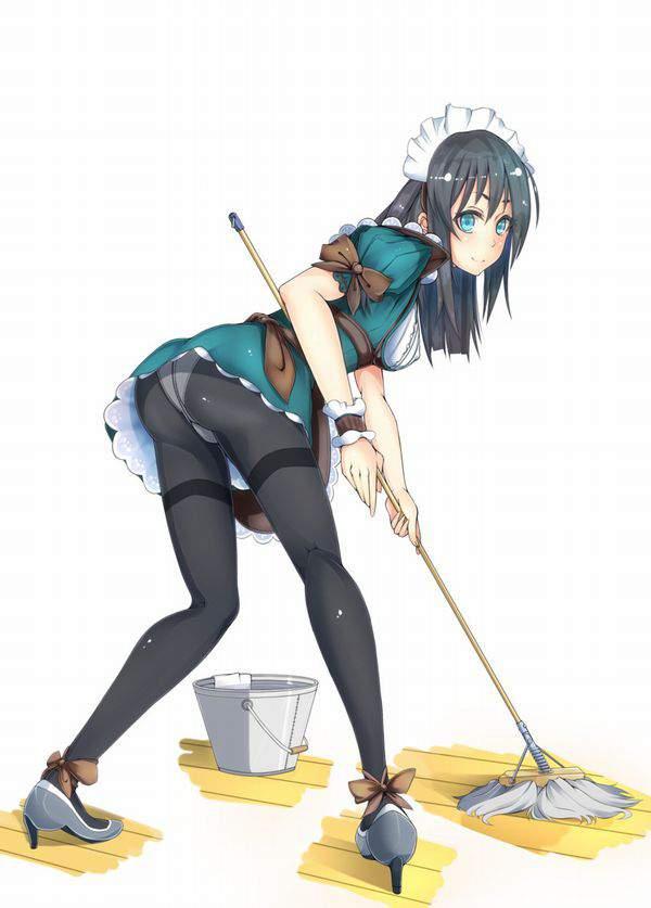【チラリズムが一杯】清掃活動・掃除に勤しむ女子達の二次エロ画像【16】