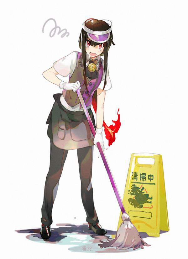 【チラリズムが一杯】清掃活動・掃除に勤しむ女子達の二次エロ画像【29】
