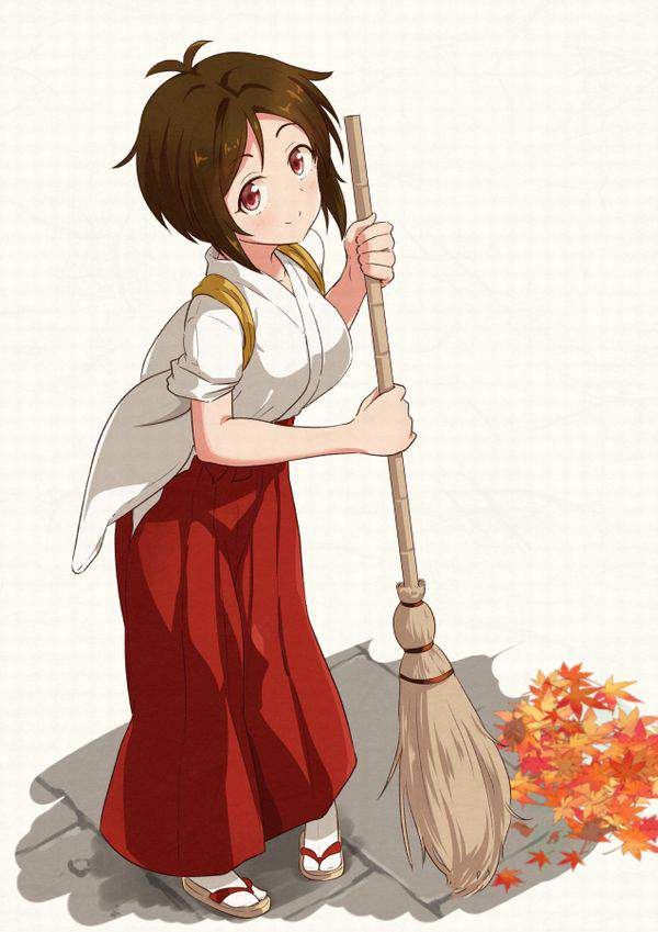【チラリズムが一杯】清掃活動・掃除に勤しむ女子達の二次エロ画像【37】