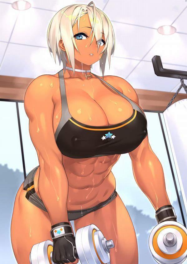 【逆にエロい】黒いスポーツブラを着けた巨乳娘の二次エロ画像【21】