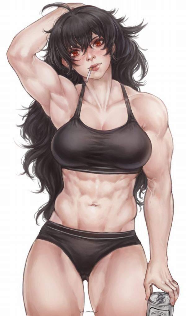 【逆にエロい】黒いスポーツブラを着けた巨乳娘の二次エロ画像【34】