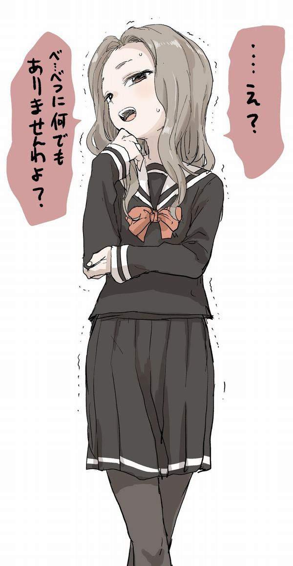 【恥らうお年頃】オシッコ我慢してる女子高生達の二次エロ画像【31】