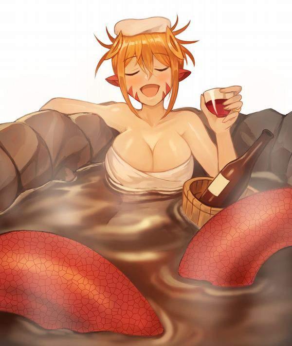 【マナー違反】手ぬぐいやタオルを温泉のお湯に入れてる女子達の二次エロ画像【35】
