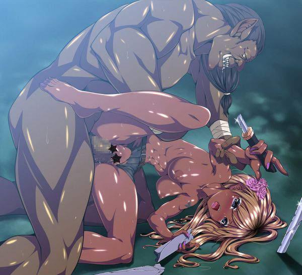 【インドの闇】褐色肌女子がレイプされてる二次エロ画像