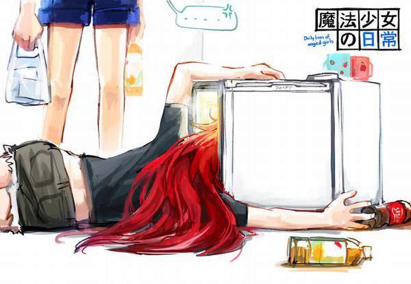 【漂う生活感】冷蔵庫を覗く女子達の二次エロ画像【11】