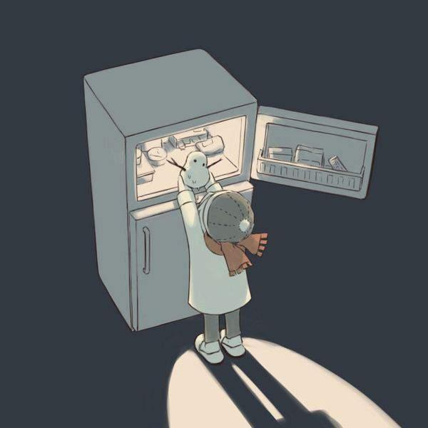 【漂う生活感】冷蔵庫を覗く女子達の二次エロ画像【19】