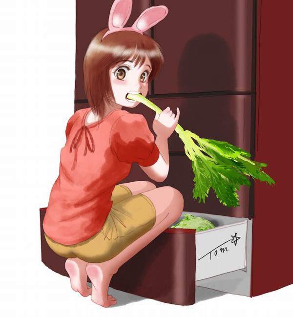 【漂う生活感】冷蔵庫を覗く女子達の二次エロ画像【28】