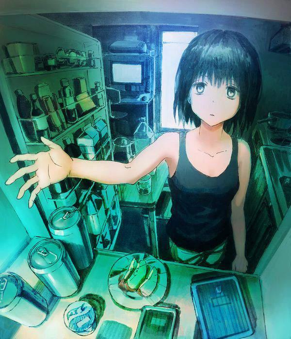 【漂う生活感】冷蔵庫を覗く女子達の二次エロ画像【32】