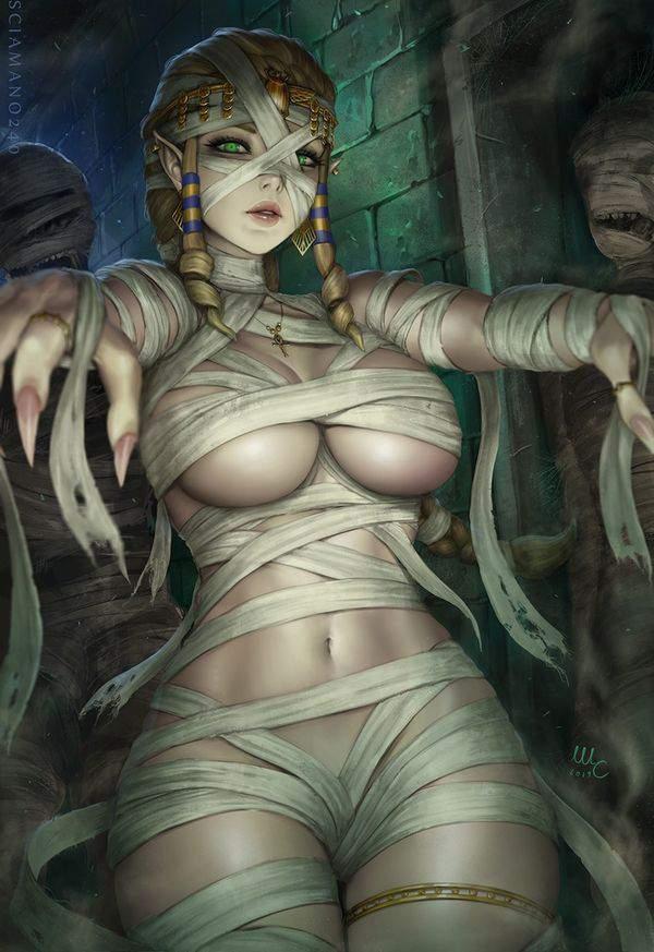【ミイラ系女子】全裸に包帯な二次エロ画像【1】