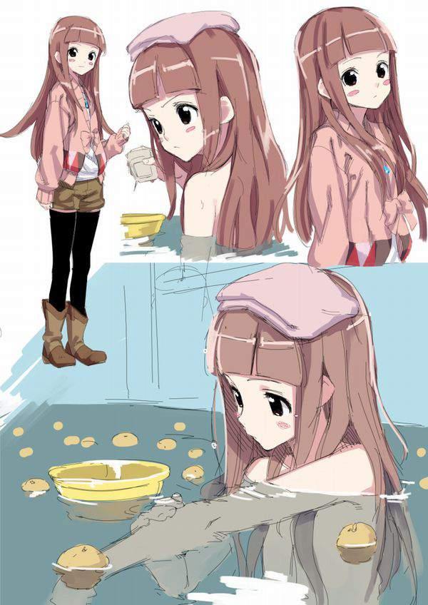 【冬至忘れてた】ゆず湯で温まる女の子達の二次エロ画像【24】