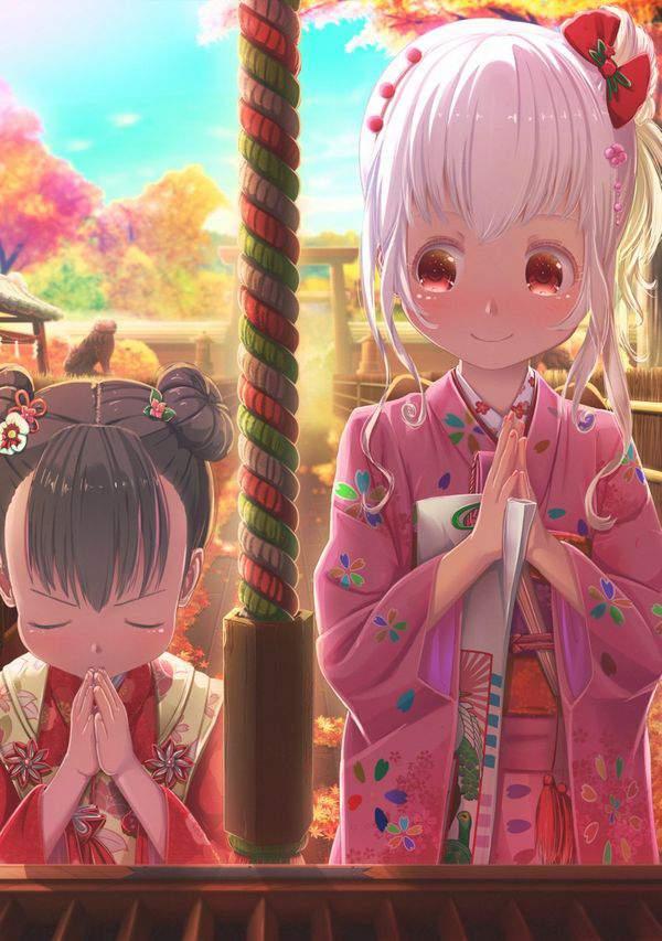 【初詣】晴れ着姿で神社にお参りする女の子達の二次画像【17】