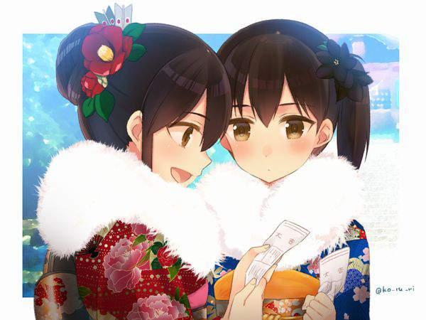 【今年の運勢】おみくじ引いてる女子達の二次画像【20】