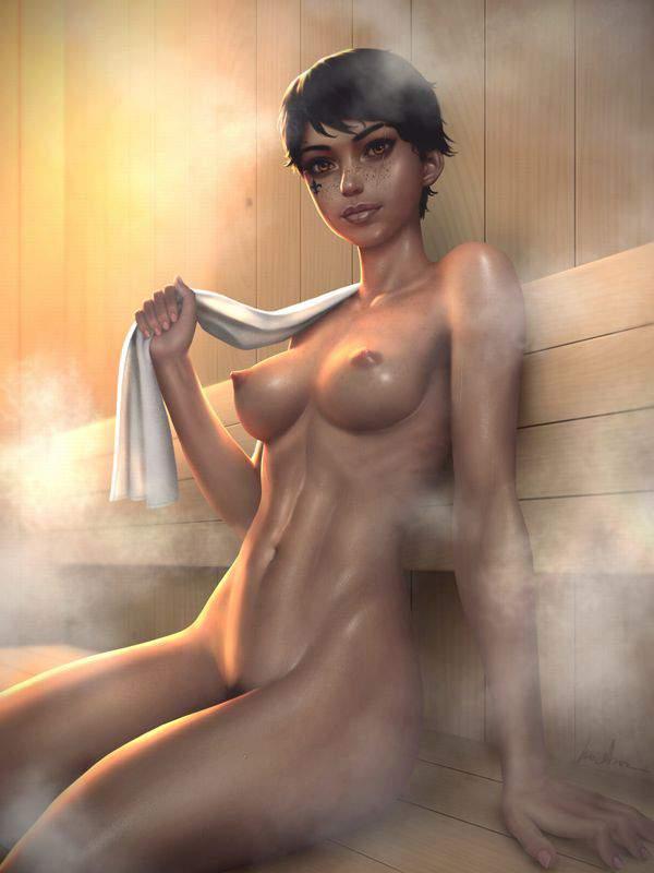 【大人の社交場】サウナで汗を流す女子達のエロ画像【36】