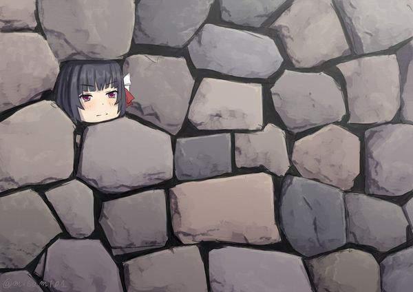 【ジャンルで言えば壁尻】うっかり壁にハマった女の子達の二次エロ画像【22】